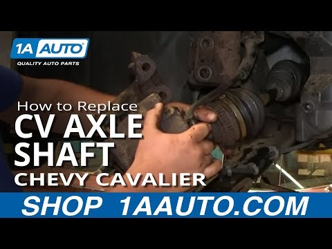 How To Install Replace Front Axle CV Joint 1995-05 Chevy Cavailer Pontiac Sunfire Aut Trans