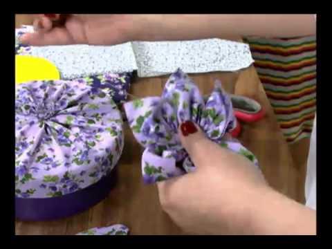 Mulher.com 04/10/2011 - Caixa com fuxico