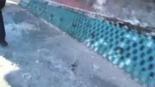 Оставляемые бороздки на дороге после сетчатых ножей и восстановление прямой режущей линии на отвале