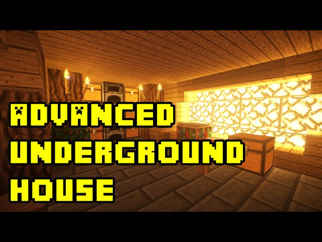 Minecraft advanced underground house bas for Classic underground house tracks