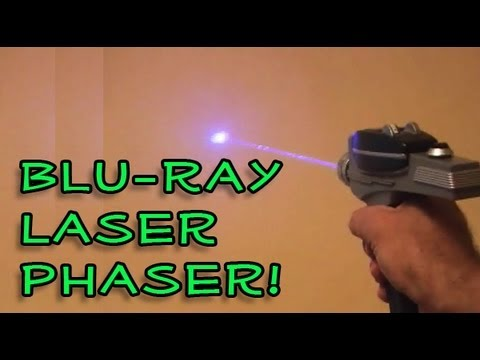 bluray - Hack a Playstation 3 blu-ray laser and turn the Star Trek Phaser into a Blu-Ray Laser Phaser! Join the Kipkay Fan Club! http://kipkay.com/fanclub Subscribe t...
