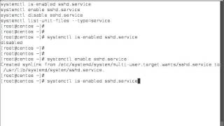 This video covers how to enable or disable services to start at boot with systemctl:systemctl is-enabled sshd.servicesystemctl enable sshd.servicesystemctl disable sshd.servicesystemctl list-unit-files --type=service