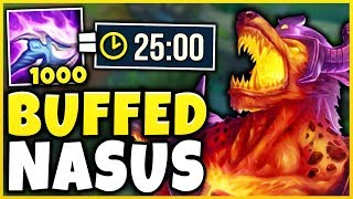 Video THESE NEW NASUS BUFFS ARE 100% WAY TOO MUCH! 1,000 STACKS IN 25 MINUTES! - League of Legends MP3, 3GP, MP4, WEBM, AVI, FLV Desember 2018