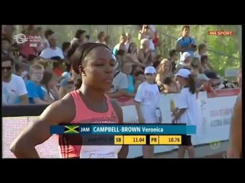Veronica Campbell-Brown (100 m síkfutás) a Gyulai István Memorial 2015-ön