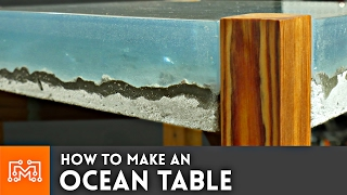 Video How to make an Ocean Table // Concrete and Epoxy Resin MP3, 3GP, MP4, WEBM, AVI, FLV Januari 2019
