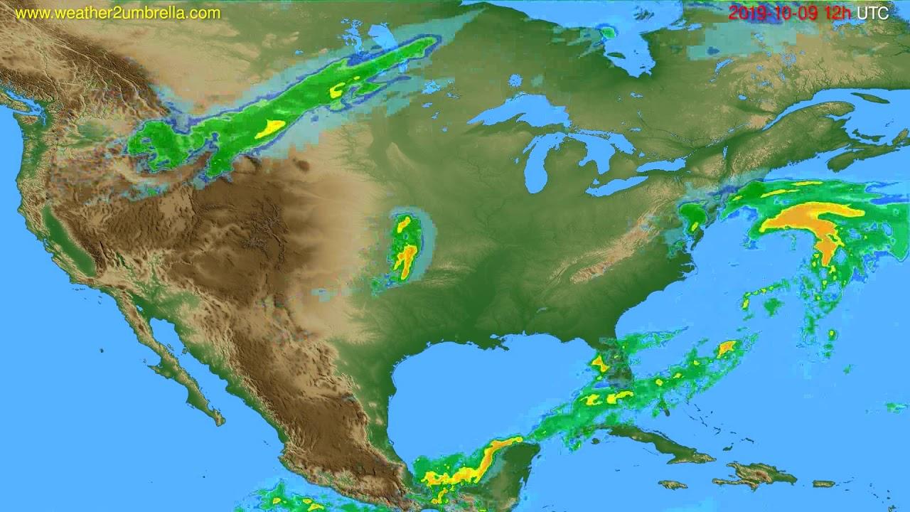 Radar forecast USA & Canada // modelrun: 00h UTC 2019-10-09