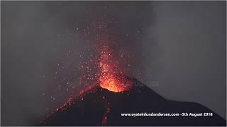 Video Krakatau volcano in continous eruption, 5th August 2018 - 4K Resolution MP3, 3GP, MP4, WEBM, AVI, FLV Mei 2019
