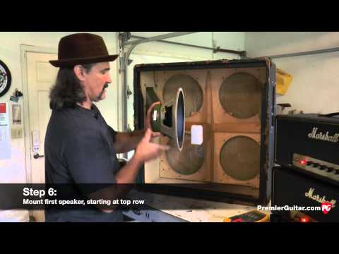 DIY: How to Install Speakers in a 4x12 Cab, Part 1