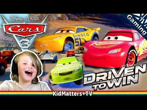 CARS 3 Driven to Win Gameplay. TRAGEN VS LIGHTNING MCQUEEN. Disney Pixar Racing[KM+Gaming S02E112]