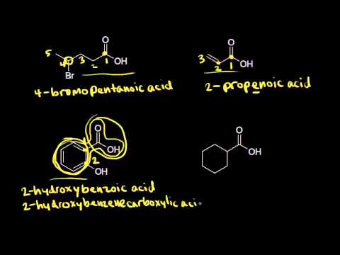 Carboxylic Acid Nomenclature And Properties Video