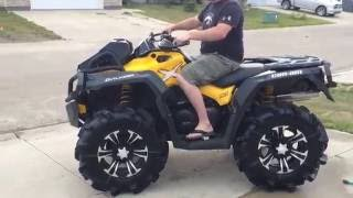 10. 2015 can am 800 xmr with RJWC slip on