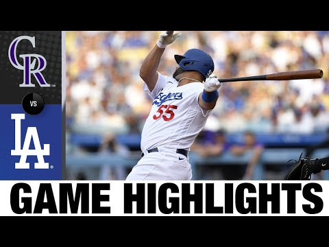 Rockies vs. Dodgers Game Highlights (7/24/21)   MLB Highlights
