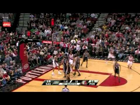 Rudy Fernandez to LaMarus Aldridge's Alley-Oop against Spurs