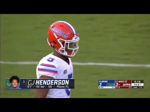 Florida Cb: Cj Henderson || Best Corner In The Nation || Sophomore Highlights !