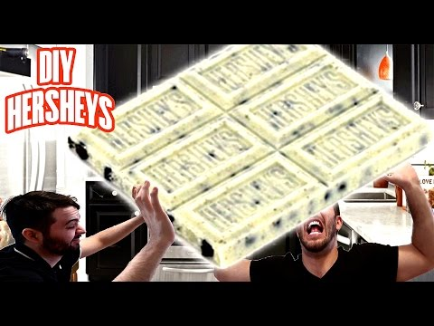 DIY GIANT HERSHEY'S COOKIES AND CREAM BAR IN A STRANGERS HOUSE | WORLDS LARGEST CHOCOLATE BAR!!