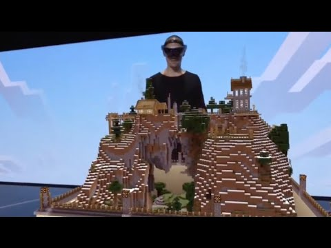 Minecraft Hololens demo at E3 2015 Awesome