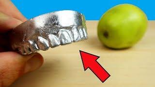 Сделал себе зубы из Галлия и откусил яблоко! Зубы Терминатора!
