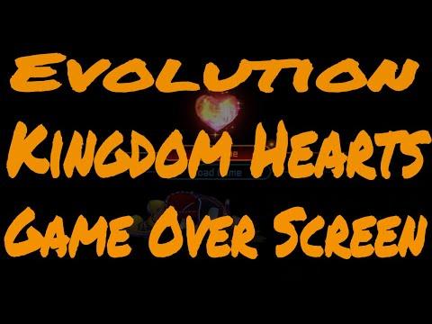 Evolution of All Kingdom Hearts Game Over Screen