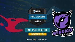 mousesports vs Windigo - ESL Pro League S8 EU - bo1 - de_cache [Mintgod, Anishared]
