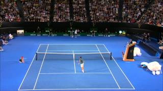 What a way to finish a match. Roger Federer smashes it out in style against Jo-Wilfried Tsonga. Subscribe: ...