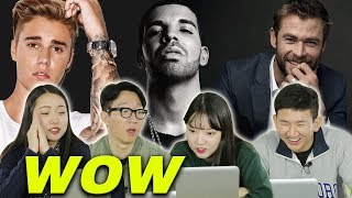 Video Koreans react to popular male celebrities in America [Korean Bros] MP3, 3GP, MP4, WEBM, AVI, FLV Maret 2019
