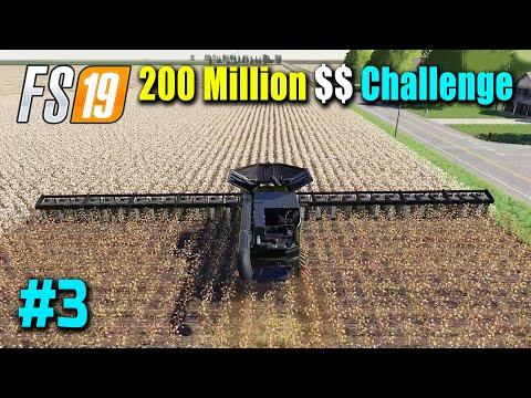 200 Million Dollar Challenge Part 3, Harvesting & Selling Cotton, FS19 Nebraska Map