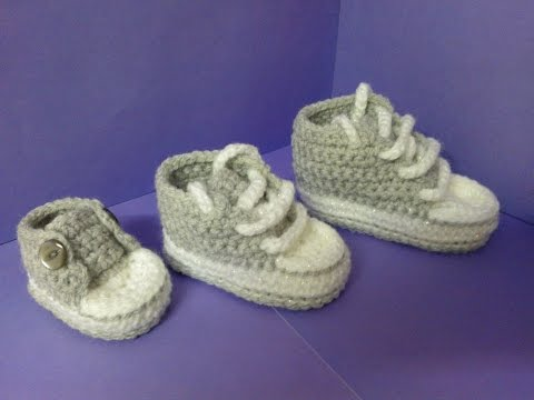 New How to increase sizes with My easy crochet converse style slippers pattern update