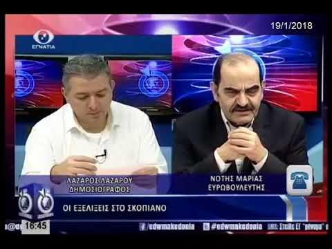Ο Νότης Μαριάς για τις πολιτικές και θρησκευτικές προεκτάσεις του Σκοπιανού
