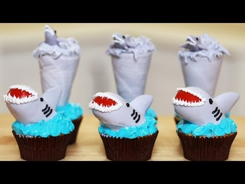nerdy - Today I made Sharknado Cupcakes in celebration of Shark Week! I really enjoy making nerdy themed goodies and decorating them. I'm not a pro, but I love bakin...