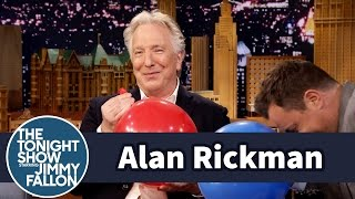 Alan Rickman Takes Jimmy to Task for His Impersonation - YouTube