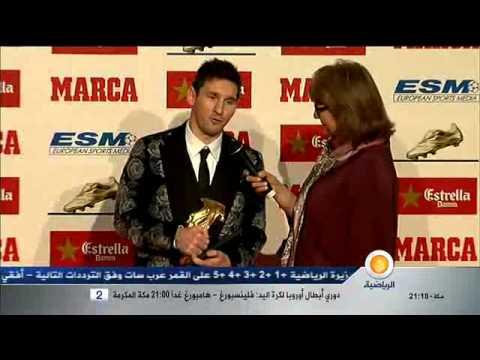 Lionel Messi reçoit son troisième Soulier d'Or européen,avant le Ballon d'Or ?