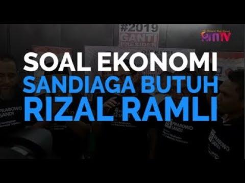 Soal Ekonomi, Sandiaga Butuh Rizal Ramli