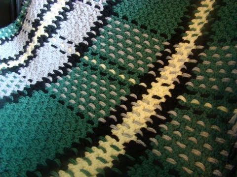 How To Crochet Tartan Afghan / Blanket