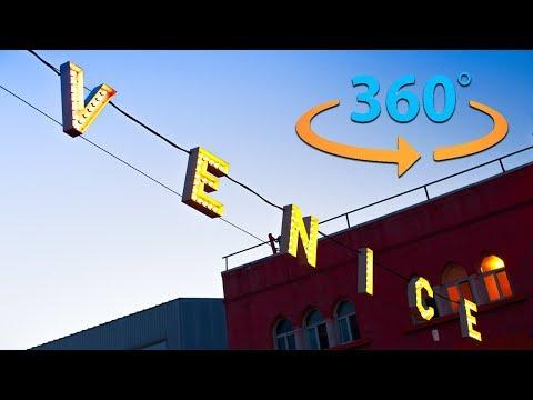 Venice Beach California Tour in 360 |  Virtual Reality Video (8K)