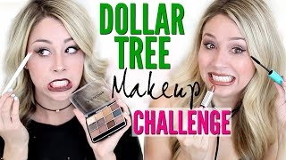 FULL FACE USING Dollar Tree Makeup CHALLENGE by Eleventh Gorgeous
