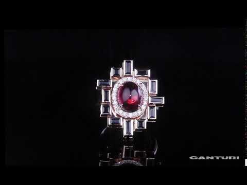 'Stella' ring with bezel set Australian black sapphires and oval cut pink tourmaline