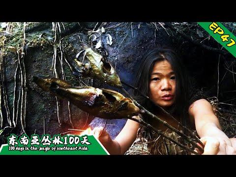 EP47 流落荒野32天,妙龄女子变大妈丨挑战丛林生存100天 DAY32