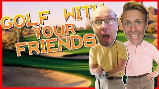GOLF WITH YOUR FRIENDS - THE KING OF GOLF!? (with SnakeDoctor)
