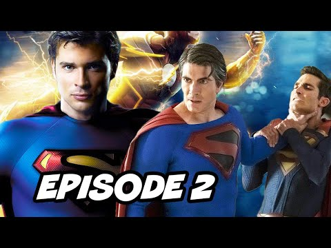 Crisis On Infinite Earths Episode 2 Batman Superman - TOP 10 WTF and Easter Eggs