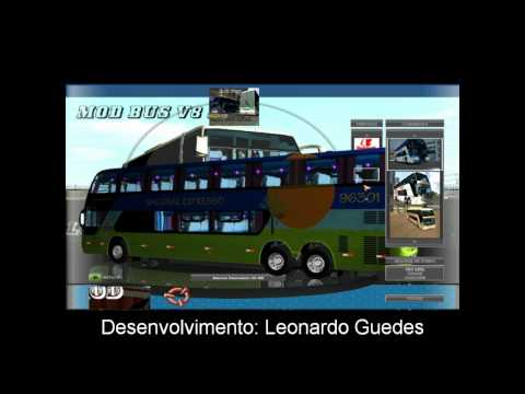 Novo mod bus v8 2012 2013 para 18 wheels of steel haulin showroom