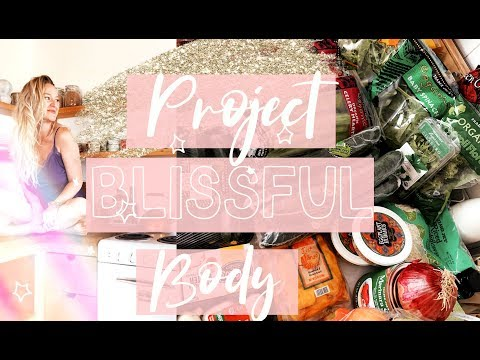 PROJECT BLISSFUL BODY// HEALTHY GROCERY HAUL for FAT LOSS + CLEAR SKIN //SKIN UPDATE | MarissaLace