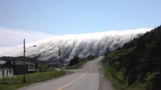 Fog rolling over Long Range Mountains. Amazingly Beautiful!