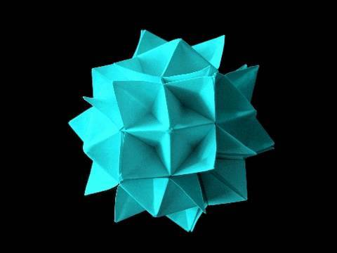 How to make an Origami Spike Ball aka Spiky Cuboctahedron