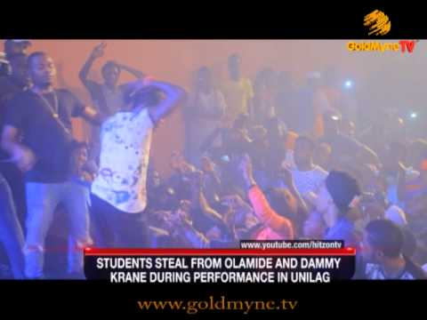UNILAG Student Steals from Olamide During Performance