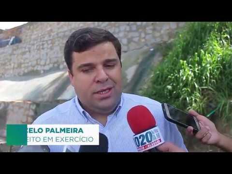 Marcelo Palmeira vistoria obra de contenção de encosta no Mutange