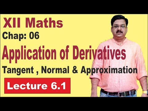 NCERT-XII-Maths-Chap-6.1-Tangent, Normal & Approximation- Application of Derivatives