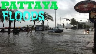 Beach Road Floods Pattaya Thailand 2am Oct 4 2013