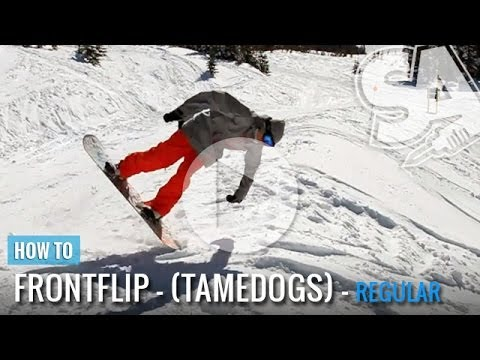 How to Front Flip on a Snowboard – (Regular) Tamedogs Trick Tip