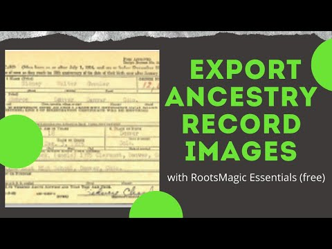 Download Ancestry Record Images with RootsMagic Essentials