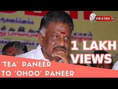 From 'Tea' Paneer to 'Ohoo' Paneer | Journey of O.Paneerselvam